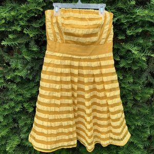 The Limited Strapless Dress Yellow Gold A Line 2